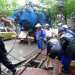 Hút bể phốt tại xã Chi Lăng