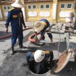 Hút bể phốt tại xã Lạc Vệ