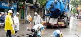 Hút bể phốt tại xã Quảng Phú